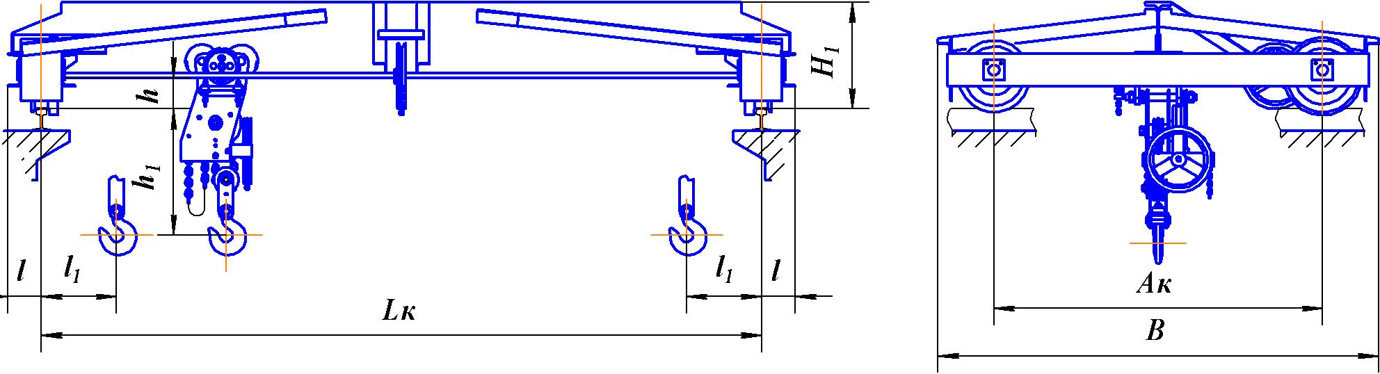 Схема подкрановых балок